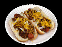 Chili Dogs #2 royalty free stock photo
