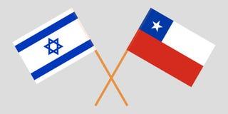 Chili en Israël De Chileense en Israëlische vlaggen Offici?le kleuren Correct aandeel Vector royalty-vrije illustratie