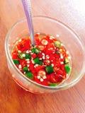 Chili fish sauce Stock Photography