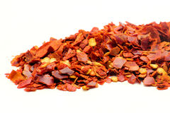 Chili Flakes Stockfoto