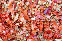 Chili Flakes caldo asciutto Immagini Stock Libere da Diritti