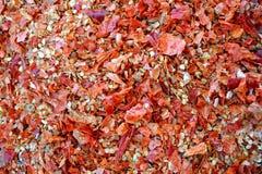 Chili Flakes caldo asciutto Fotografie Stock