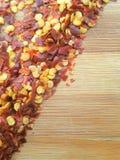 Chili flakes corner Stock Photography