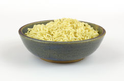Chili flavored noodles in bowl Royalty Free Stock Images