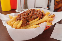 Chili French Fries Stock Image