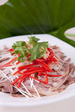 Chili fried pig stomach Royalty Free Stock Photo