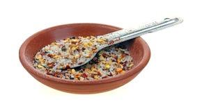 Chili Garlic Seasoning Ground stock images