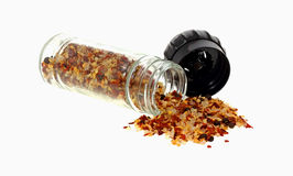 Chili and Garlic Seasoning Spilling Stock Photo