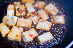 Chili and Ginger Tofu Royalty Free Stock Photos