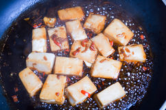 Chili and Ginger Tofu Royalty Free Stock Image