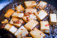 Chili and Ginger Tofu Stock Photos