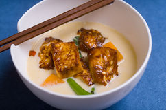 Chili and Ginger Tofu soup Stock Photos