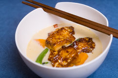 Chili and Ginger Tofu soup Royalty Free Stock Image