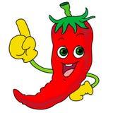 Chili gorąca ikona Zdjęcie Royalty Free