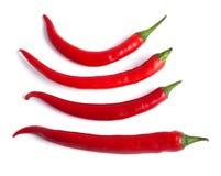 chili gorącego pieprzu czerwień Fotografia Royalty Free
