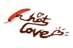 chili gorący miłości pieprz Fotografia Stock