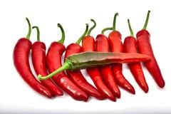 Chili gorący pieprze zdjęcia stock