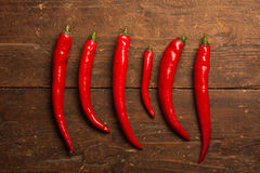 Chili gorący pieprze Zdjęcia Royalty Free