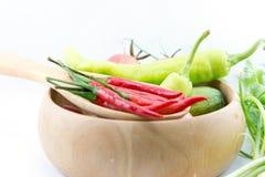 Chili grönsaken, grönsakzucchinin, minnestavlor färgade Royaltyfri Fotografi