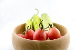 Chili grönsaken, grönsakzucchinin, minnestavlor färgade royaltyfri foto
