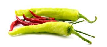 Chili grönsaken, grönsakzucchinin, minnestavlor färgade arkivbild