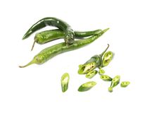 Chili green pepper. Royalty Free Stock Images