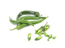 Chili green pepper Stock Photos