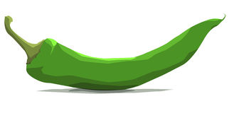 Chili Green (Vector Illustration, eps) Stock Image