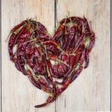 Chili heart Royalty Free Stock Image