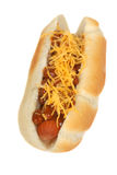 Chili hot dog Stock Photo
