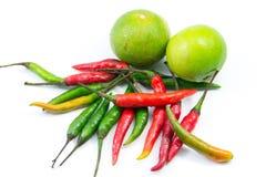 Chili i cytryna dla tajlandzkiego kucharstwa Zdjęcie Royalty Free