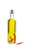 Chili infused olive oil Royalty Free Stock Photography