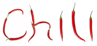 Chili inscription Royalty Free Stock Photo