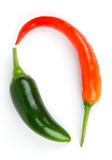 Chili and  Jalapeno pepper Stock Photos