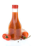 Chili ketchup on white. Background Royalty Free Stock Images