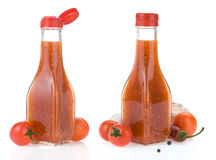 Chili ketchup on white. Background Royalty Free Stock Image