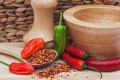 chili kuchnia pieprzy nieociosanego położenie Zdjęcie Stock