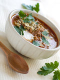 Chili lentil soup stock images