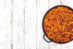 Chili On Light Background Images libres de droits