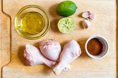 Chili Lime chicken prep Royalty Free Stock Image