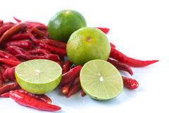 Chili and lime Stock Photo