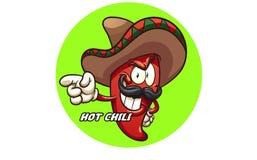 Chili logo for the farmer royalty free illustration