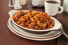 Chili macaroni casserole Stock Photo