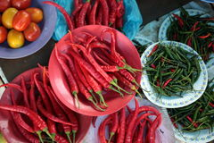 Chili at the market Stock Photography