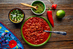 Chili with meat platillo Mexican food Royalty Free Stock Image