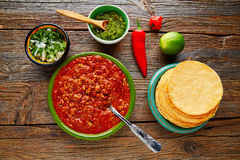 Chili with meat platillo Mexican food Royalty Free Stock Images