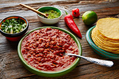 Chili with meat platillo Mexican food Stock Photography