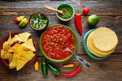 Chili with meat platillo Mexican food Royalty Free Stock Photo