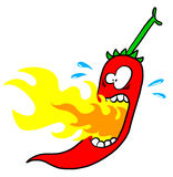 Chili with mouth on fire Stock Photos