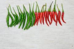 Chili na tkaninie Obraz Stock